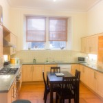 Big kitchen equipped with all modern conveniences including Fridge freezer, dishwasher, microwave, kettle and toaster and gas oven and hob.  Utility room off the kitchen has a washing machine and tumble dryer