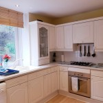 Fully equipped kitchen with integrated electric oven and gas hob
