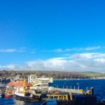 Panoramic views overlooking Rothesay Harbour and bay