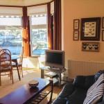 Spacious lounge with panoramic views