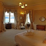 Magnificent master bedroom with spectacular sea views