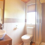 En-suite with walk in shower, toilet and wash hand basin