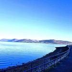 View up Loch Striven from the promenade directly outside Bay Apartment