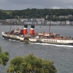The Waverley sailing into Rothesay Bay - photo taken from Bay Apartment